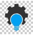 Bulb Configuration Gear Icon vector image