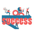 business and success concept business and success vector image vector image