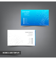 Business Card template set 025 connection network vector image vector image