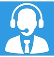 Call center icon from Business Bicolor Set vector image
