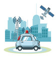 car gps tracker technol vector image