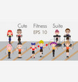 charecter fitness suite set vector image