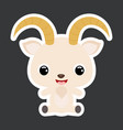 children sticker cute little sitting goat