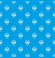 croquet pattern seamless blue vector image