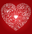 curly heart vector image