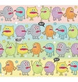 Cute monsters seamless background with stars vector image vector image