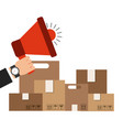 delivery service concept isolated icon vector image vector image