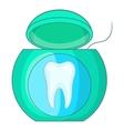 Dental floss icon cartoon style vector image