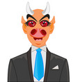 devil in suit with tie vector image vector image