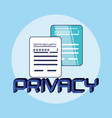 documents data privacy icon vector image vector image