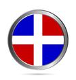 DominicanRepublic flag button vector image vector image