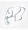 elephant animal wild one line design vector image