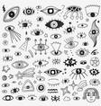 eyes - hand drawn icon set symbols vector image vector image