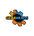 gear heads vector image