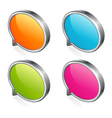 glossy speech bubble vector image