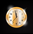 golden clock isolated on transparent vector image vector image