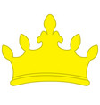 golden yellow crown icon symbol vector image