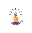 halloween candle icon burning candle vector image