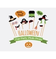 Halloween party invitation with photo booth props vector image vector image