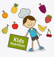 Kids food design vector image vector image
