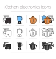Kitchen electronics icons set vector image vector image