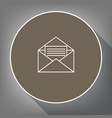 letter in an envelope sign vector image vector image