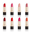 lipstick assortment set vector image vector image