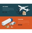 Logistic concept flat banners of air cargo vector image vector image