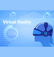man in virtual reality headset background vector image vector image