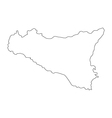 map sicily vector image vector image