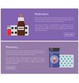 medication medicines posters vector image vector image