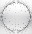 mesh sphere made with circular dots vector image