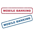 Mobile Banking Rubber Stamps vector image