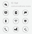 modern flat icons collection communications vector image