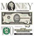 money 2 Dollar vector image vector image