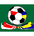 national soccer shoes vector image vector image