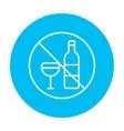 No alcohol sign line icon vector image vector image