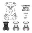 panda icon cartoon singe animal icon from the big vector image vector image