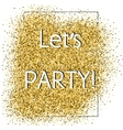 Party glittering card vector image vector image