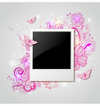Photo and pink flowers vector image vector image