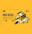 post office online service isometric web banner vector image vector image