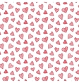 romantic seamless pattern with red hearts vector image vector image