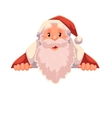 Santa Claus holding a sign with place for text vector image vector image