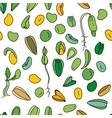 Seamless pattern with different seeds Endless vector image vector image