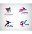 set abstract arrow logos pointer vector image