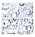 set hand drawing isolated arrows collection on vector image vector image