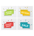 set of bright sale ribbons with particle blast vector image vector image