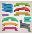 set retro ribbons vector image
