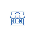 shop line icon concept shop flat symbol vector image vector image