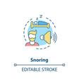 snoring concept icon vector image vector image